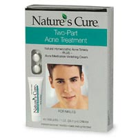 Nature's Cure Two-Part Acne Treatment System for Males