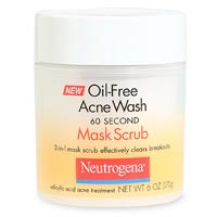 Neutrogena Oil-Free Acne Wash 60 Second Mask Scrub, Salicylic Acid Acne Treatment