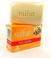 Grisi Sulfur Soap With Lanolin For Acne