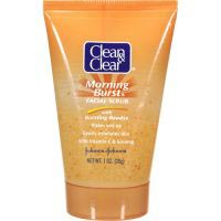 Clean & Clear Morning Burst Facial Scrub with Bursting Beads, Oil-Free