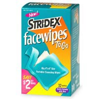 Stridex Facewipes to Go with Acne Medication