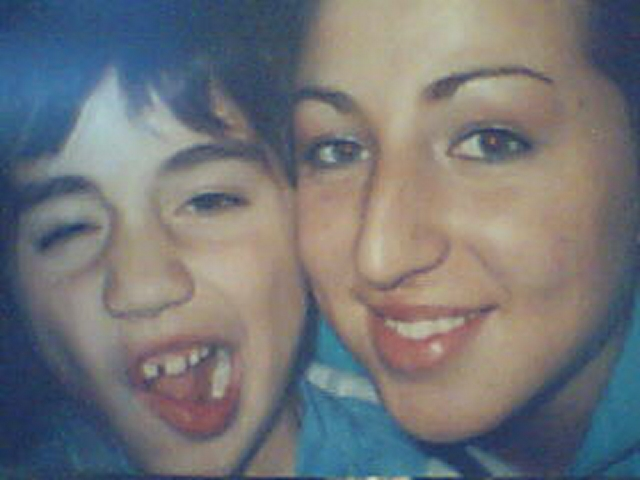 me an lil bro..i am NOT afraid to smile...