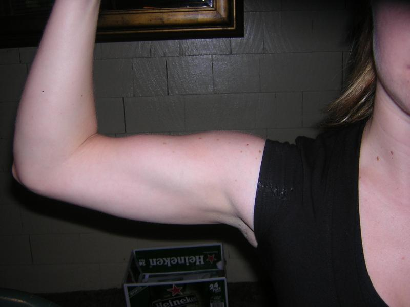 "my ""gym arms"""