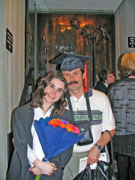Dad and I at my graduation