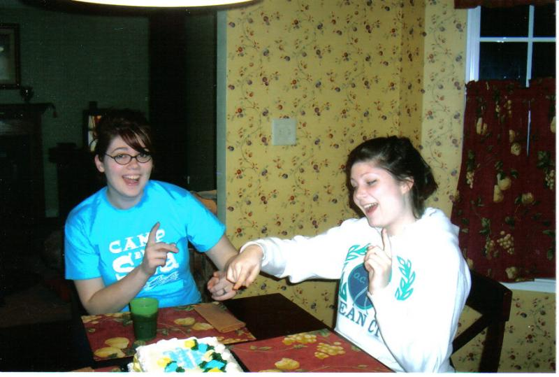 This is my best friend Caitlin and I on my birthday about to