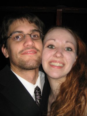 Redhead me, with my husband!