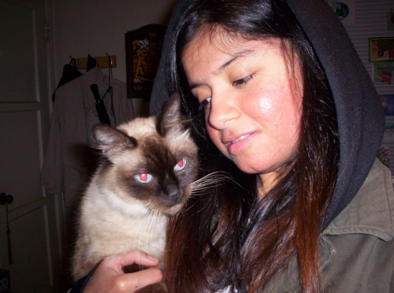 me and my cat..