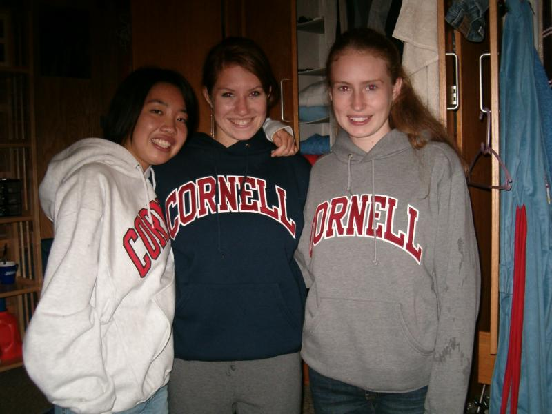 this is me with my two roommates from last year.