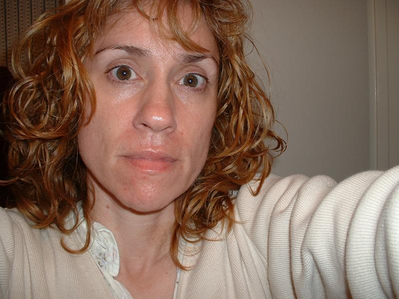 Next day, 4-1-06 with NO MAKEUP and new zit forming