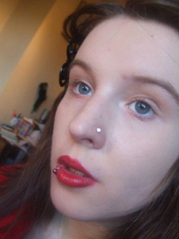 gettting makeup done for promo gig