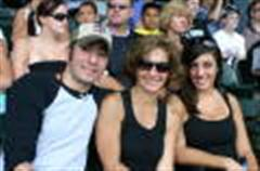 me, my mom, and sis at the sox game