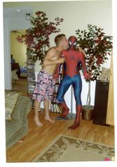 My sister has a life-sized spiderman replica.