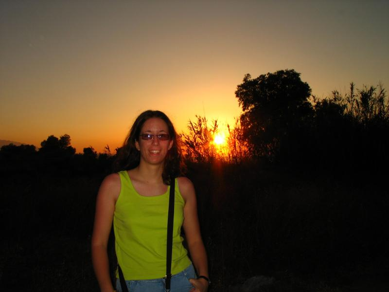 me and the sunset in crete