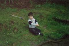 this is me when i was a toddler...trying to go fishing i gue