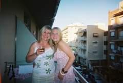 me n my aunty in pineda, spain