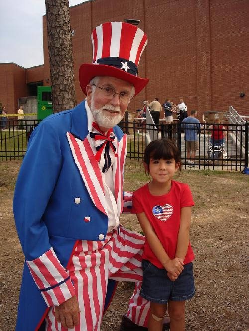 My daughter and Uncle Sam