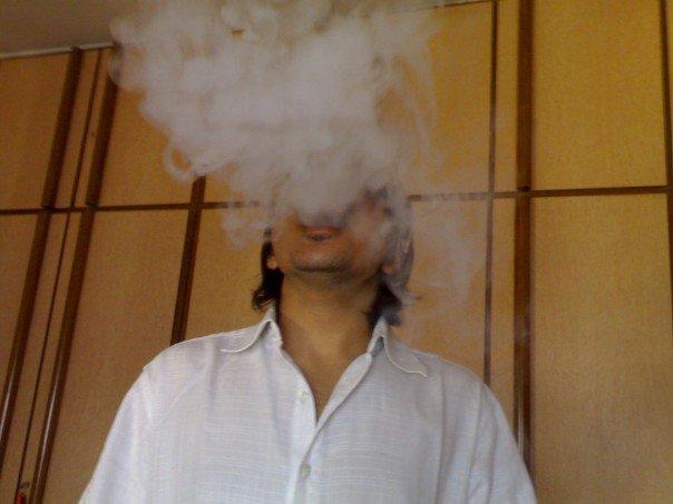 me smokin' up