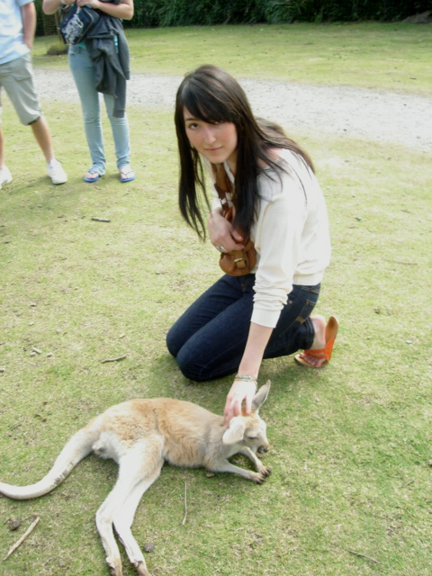 Me and a baby roo.