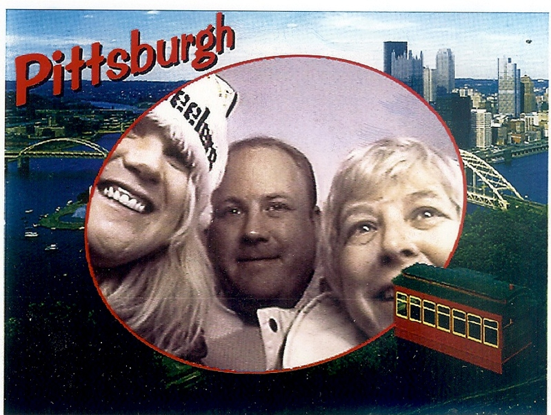 Me, my Brother and my Mom in Pittsburgh