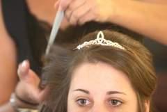 My wedding day, pre-makeup: Look at those DARK CIRCLES
