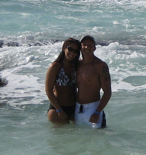 Me and my b.f in Mexico