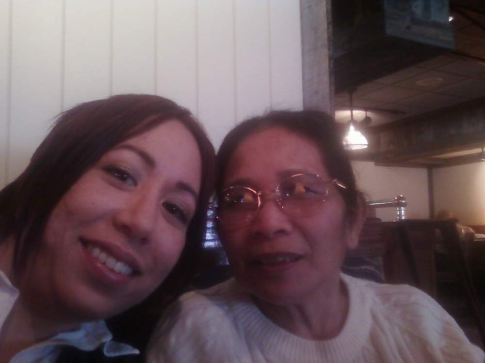Mom and I at Red Lobster