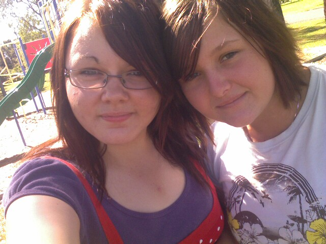 me and my friend a few days ago, with makeup..