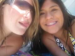 Me and Nancy at the beachhh(: