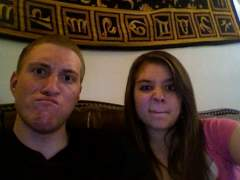 Meagan and I messin around on photo booth