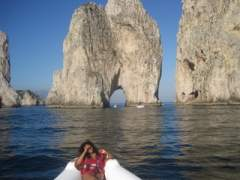 On my best friends boat in Capri, Italy.