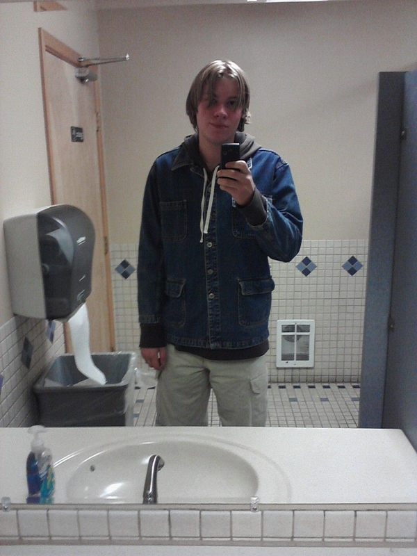 Taken in a diner bathroom on a cell phone; classy as fuck.