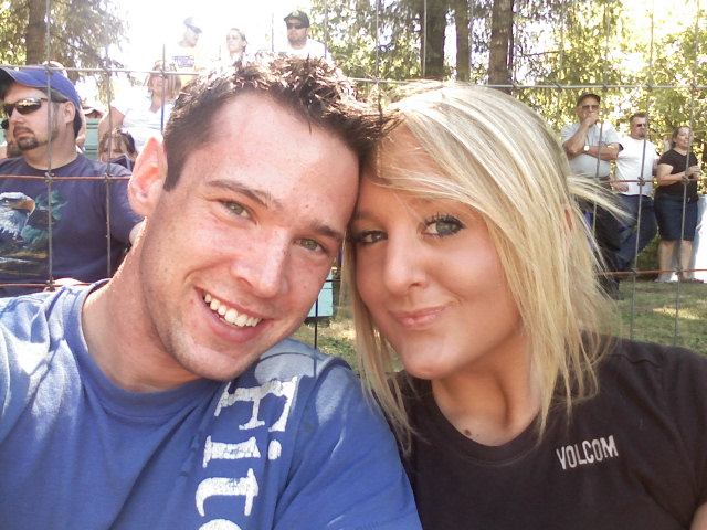 My wife and I at a motocross show