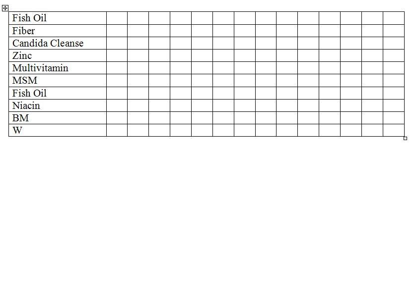 Supplement checklist