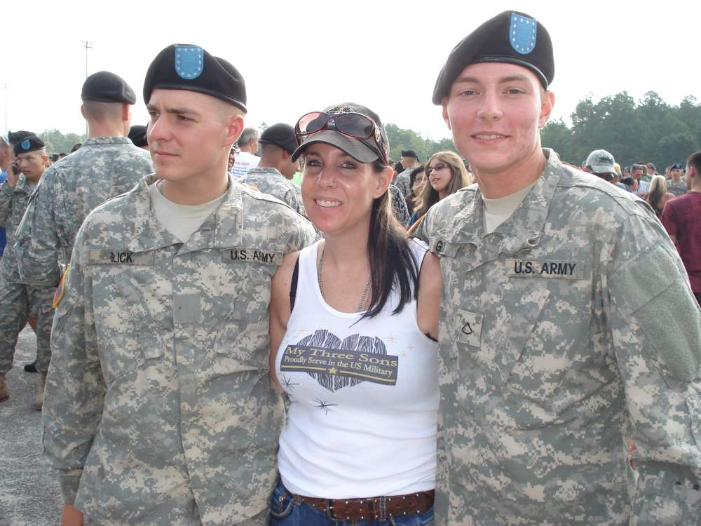 Me and two of my boys - Both were Graduating from Army Basic Combat Training!