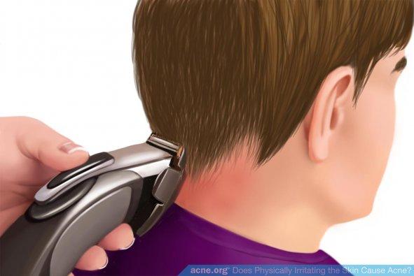 Shaving Back of Neck