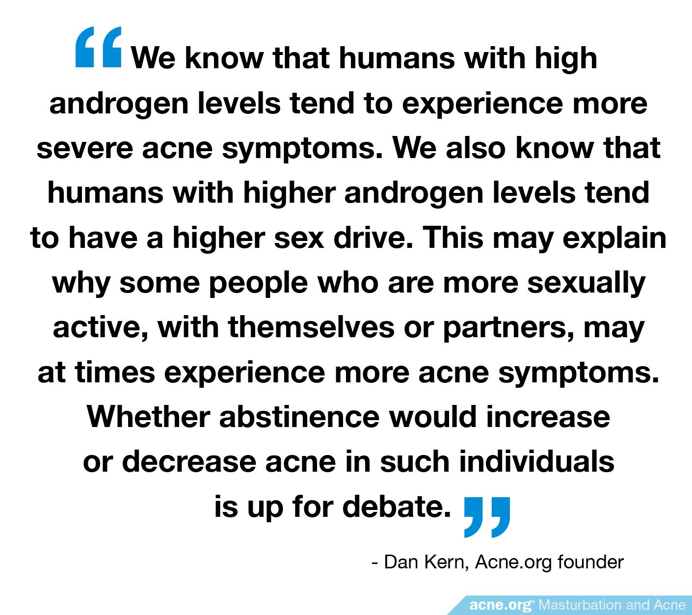 High Androgens, Sex Drive, and Acne