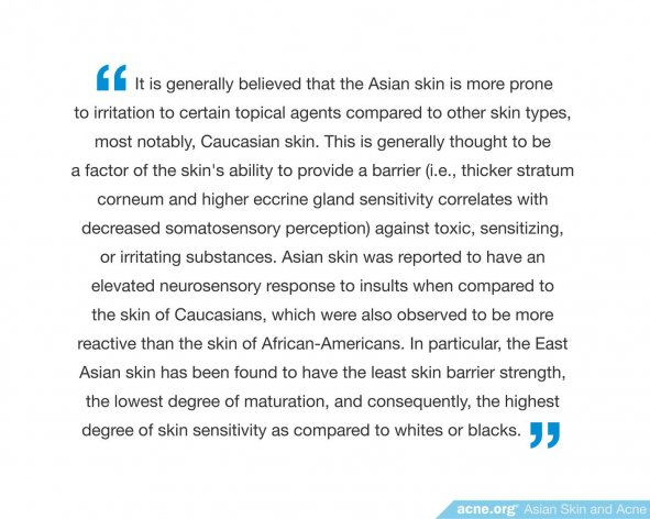 Asian Skin More Prone to Irritation