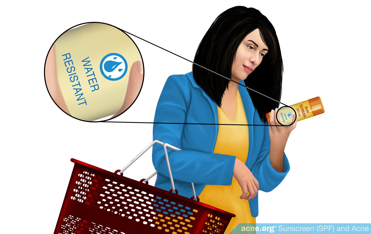 Woman Selecting Water Resistant Sunscreen