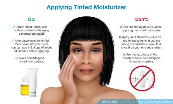 Applying Tinted Moisturizer to Acne-prone Skin