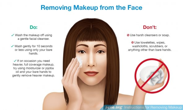 Removing Makeup from Acne-prone Skin