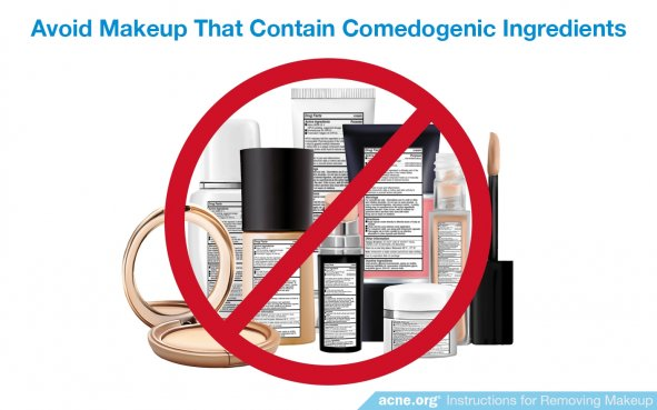 Avoid Makeup Containing Comedogenic Ingredients