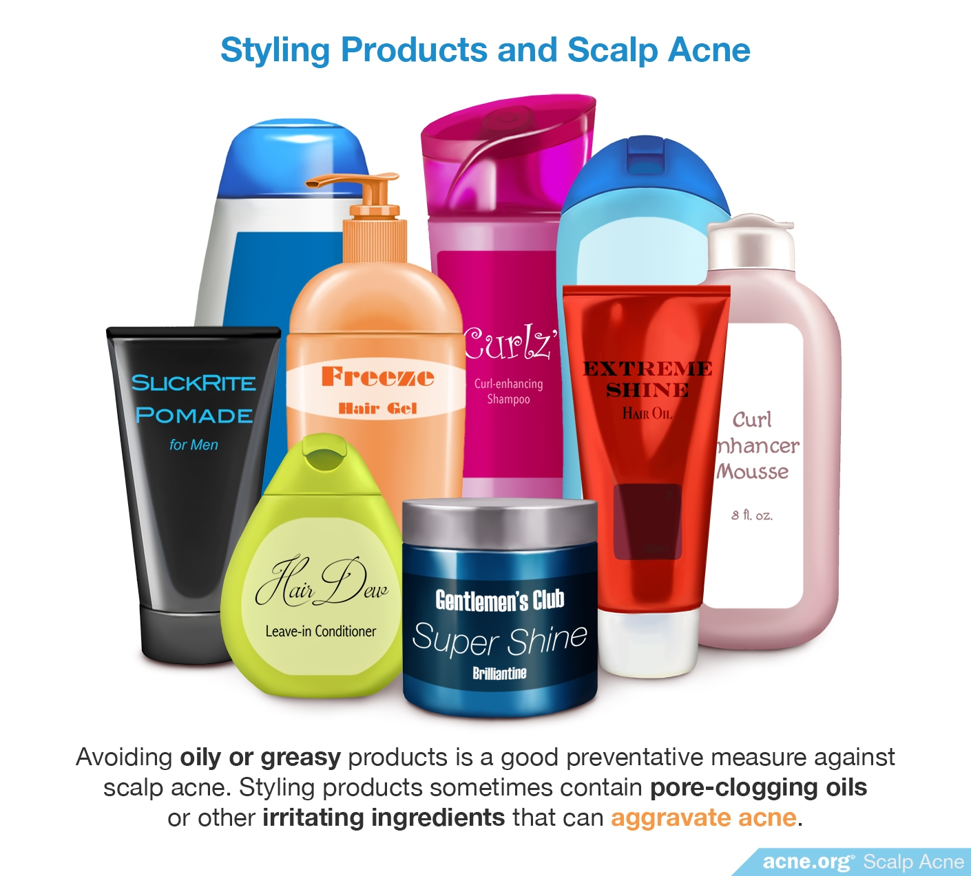 Styling Products and Scalp Acne - Acne.org