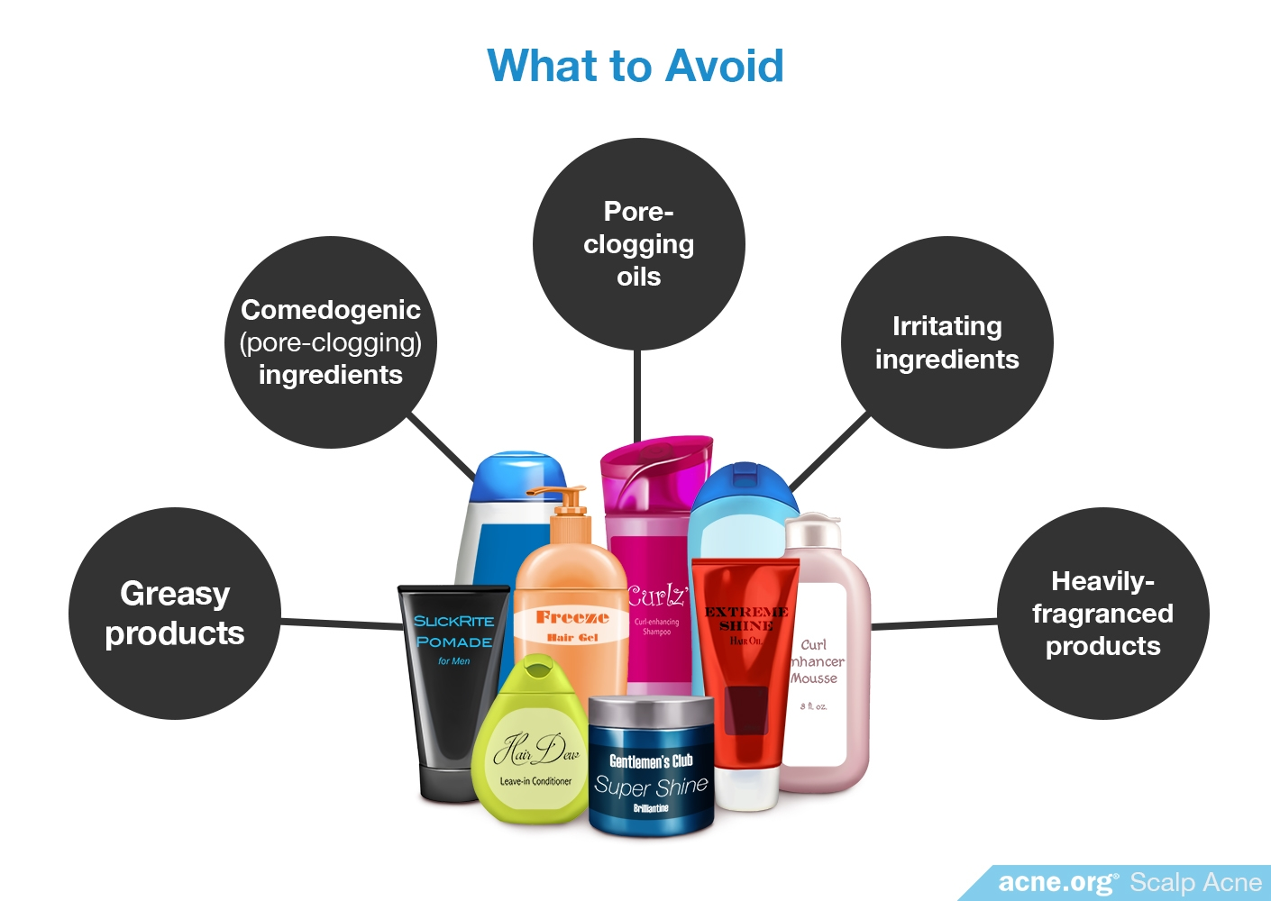 What to Avoid - Scalp Acne - Acne.org