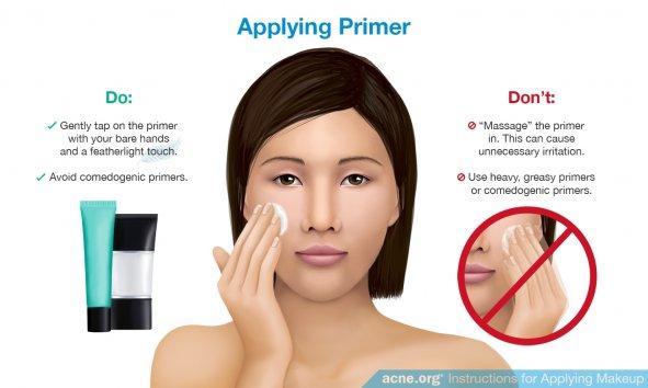 Applying Primer to Acne-prone Skin