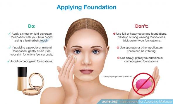 Applying Foundation to Acne-prone Skin