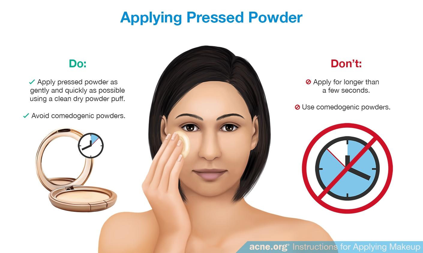 Applying Pressed Powder to Acne-prone Skin