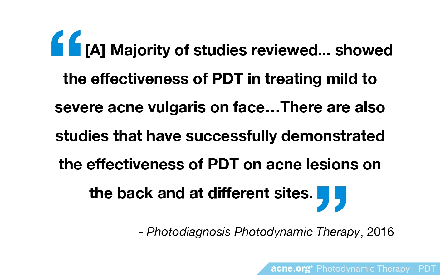 Photodynamic Therapy Quote from Study
