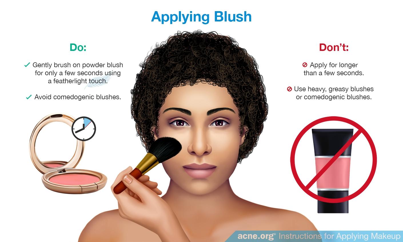Applying Blush to Acne-prone Skin