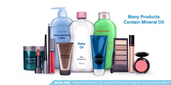 Many Products Contain Mineral Oil