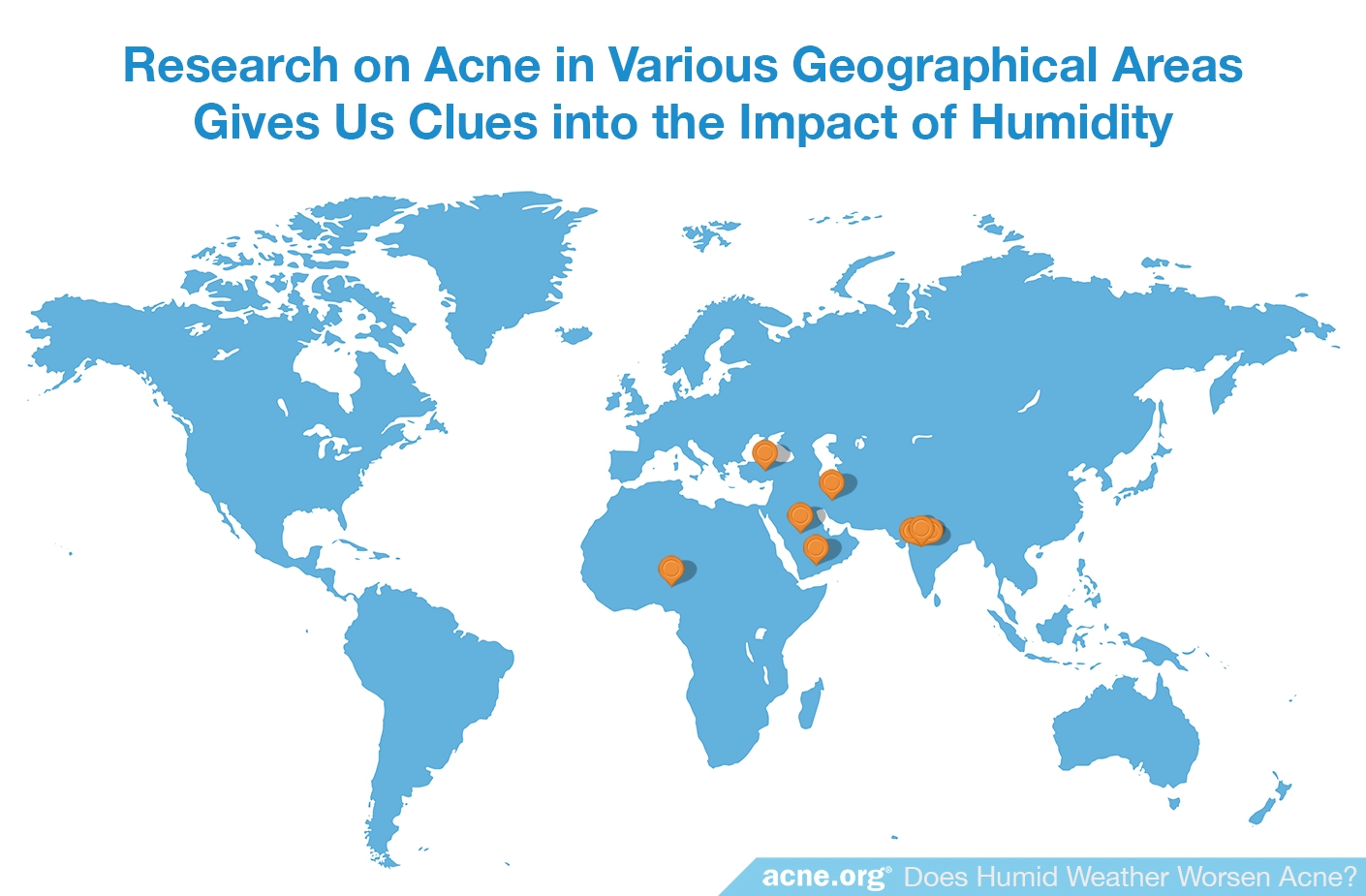 Research on Humidity, Geographical Location, and Acne
